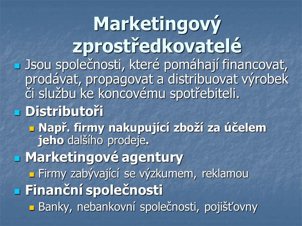 Marketingový zprostředkovatelé