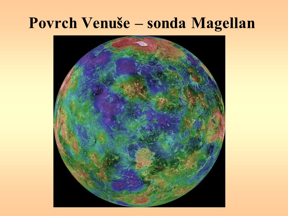 Povrch Venuše – sonda Magellan