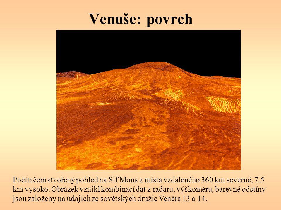 Venuše: povrch