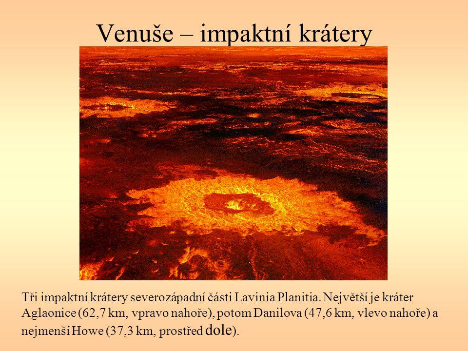 Venuše – impaktní krátery