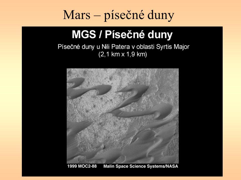 Mars – písečné duny