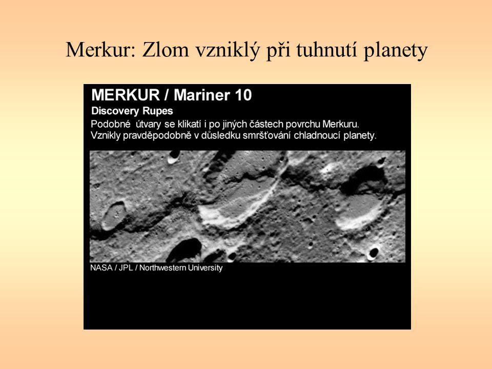 Merkur: Zlom vzniklý při tuhnutí planety