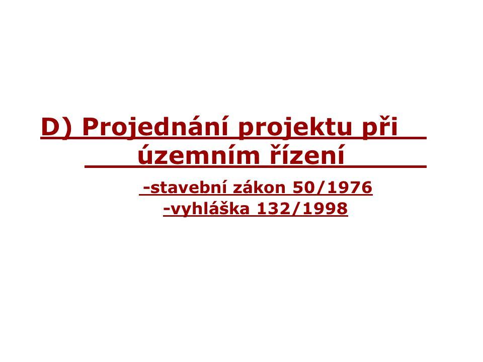 D) Projednání projektu při. územním řízení