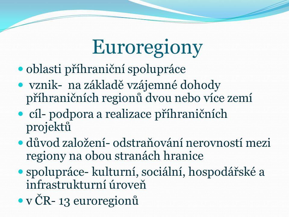 Euroregiony oblasti příhraniční spolupráce