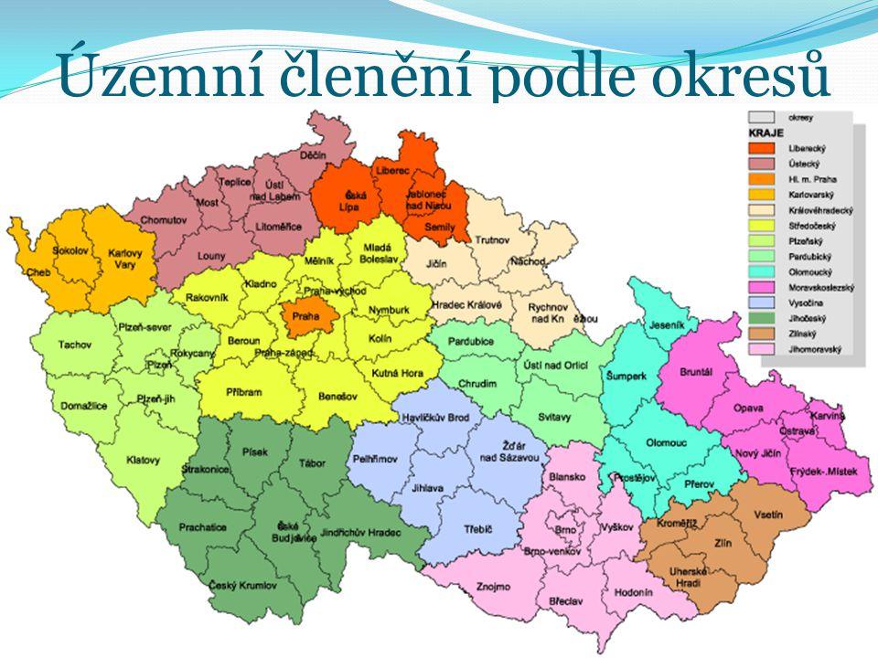 Územní členění podle okresů