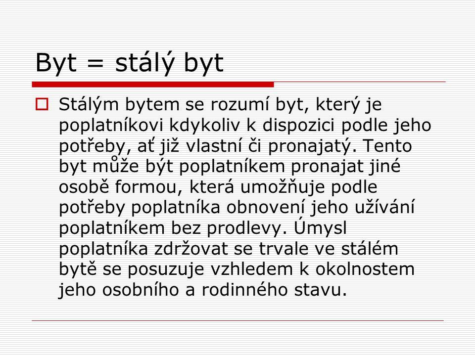 Byt = stálý byt