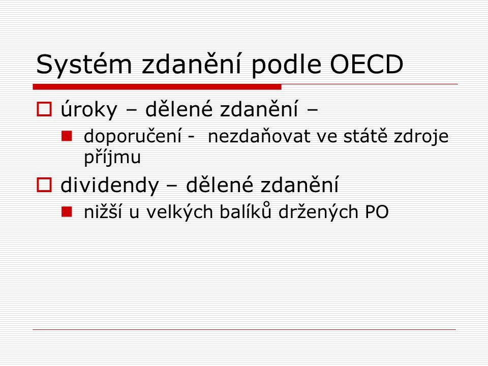 Systém zdanění podle OECD