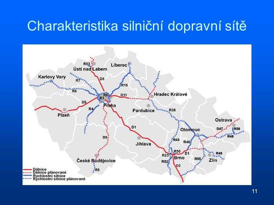 Charakteristika silniční dopravní sítě