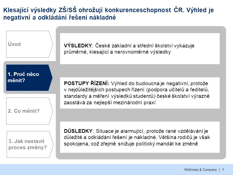Summary from available PISA data – Czech students vs. OECD countries
