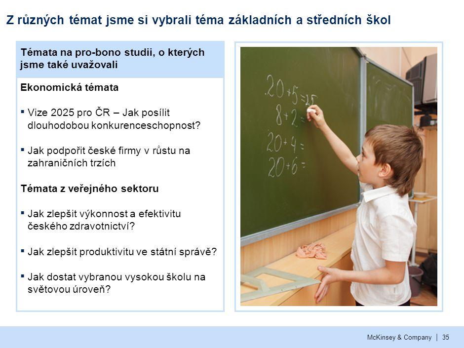 Naše zpráva o základním a středním školství v ČR má jasné zaměření