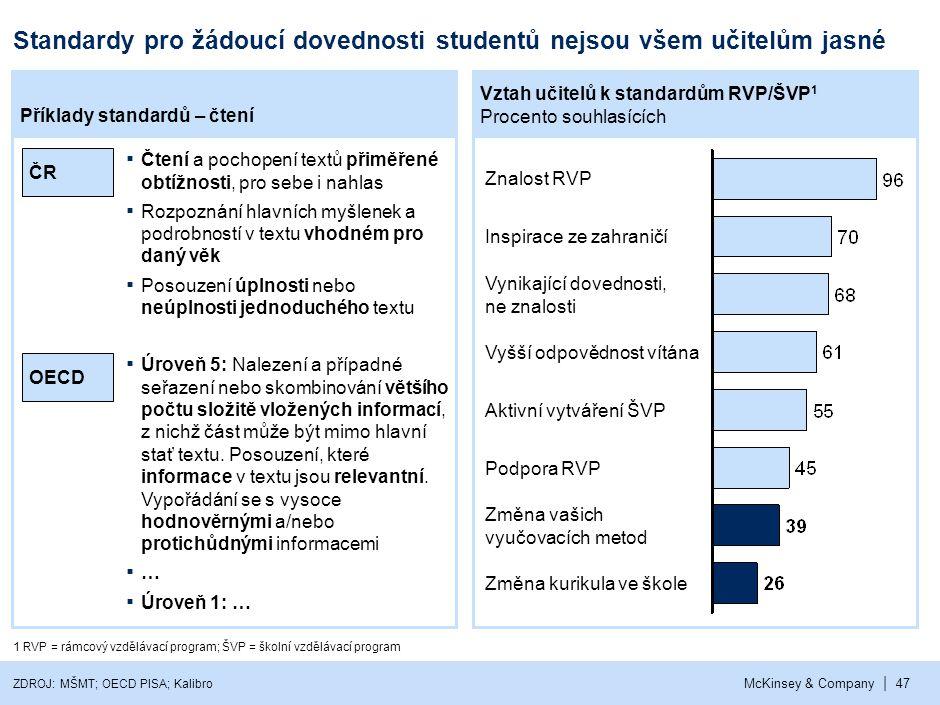 ČR je jedna z mála zemí v Evropě, kde neexistuje národní hodnocení výsledků studentů