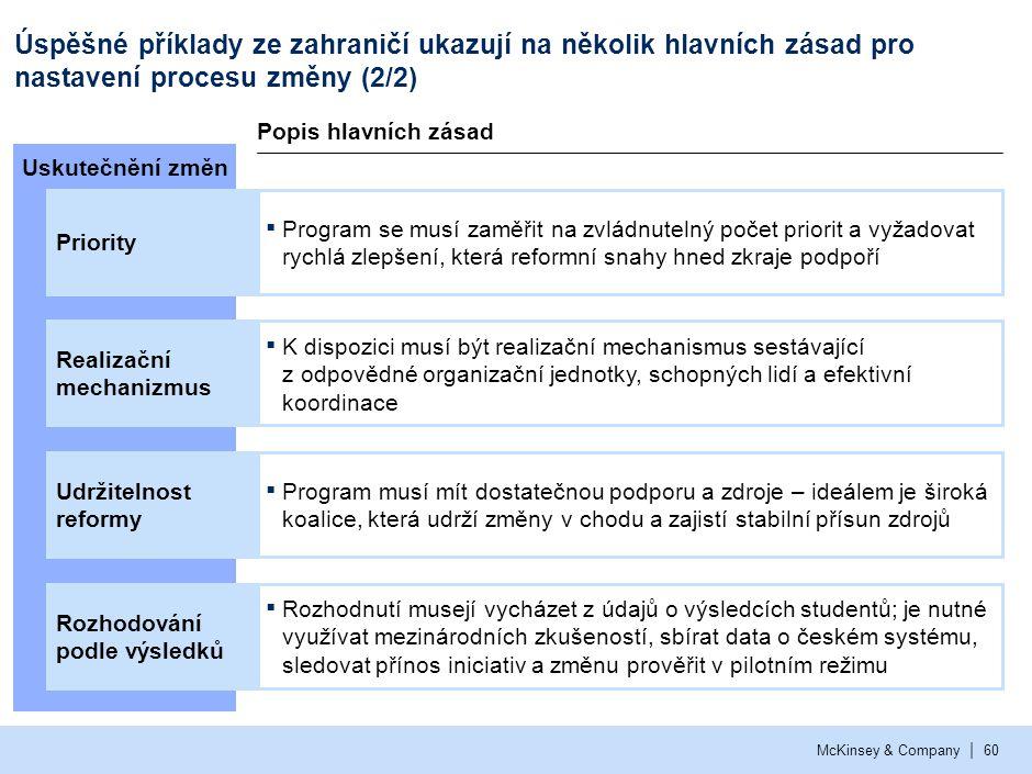 Pro úspěšné nastavení procesu změny v ČR je nutné zodpovědět několik otázek