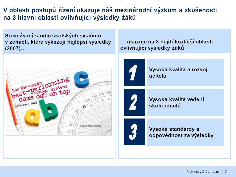 Nejlepší školní systémy ve světě podnikají pro dosažení vysoké kvality a rozvoje učitelů konkrétní kroky ve 4 oblastech