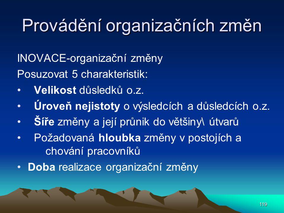 Provádění organizačních změn