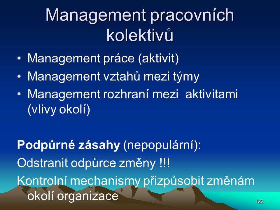 Management pracovních kolektivů