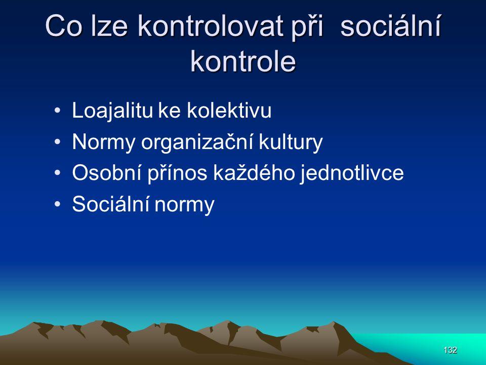 Co lze kontrolovat při sociální kontrole