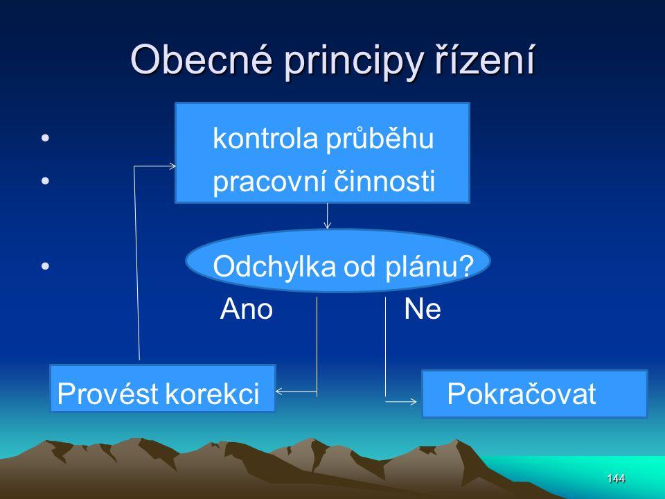 Obecné principy řízení