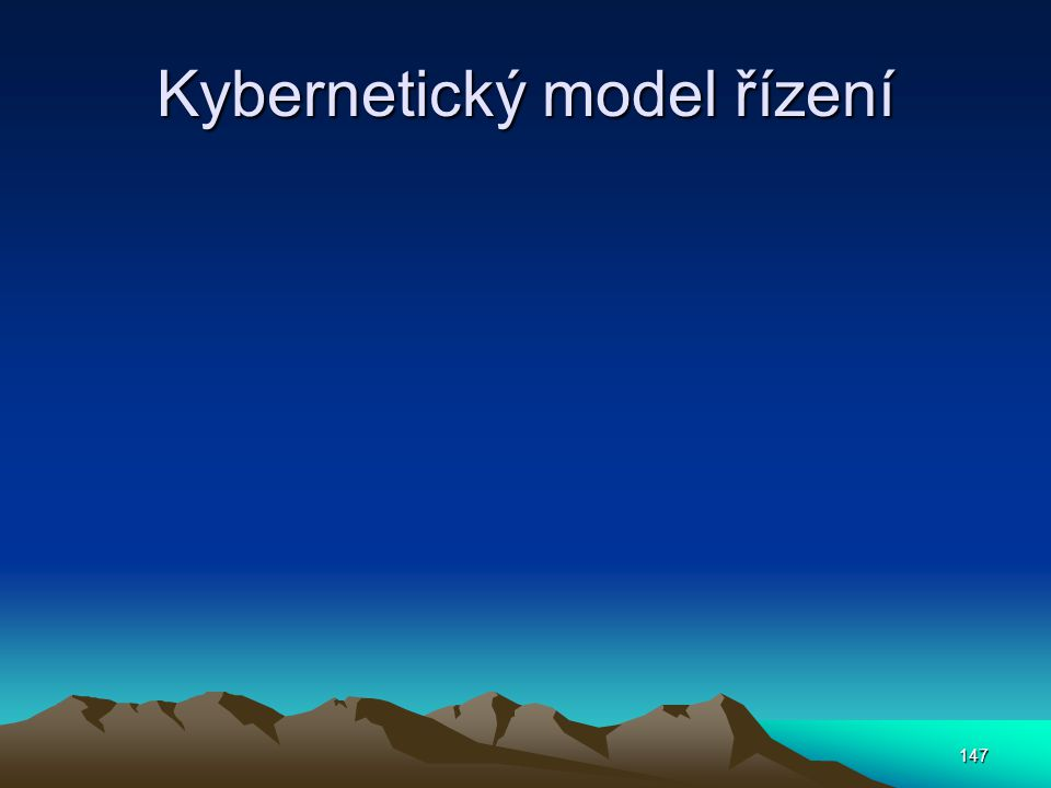 Kybernetický model řízení