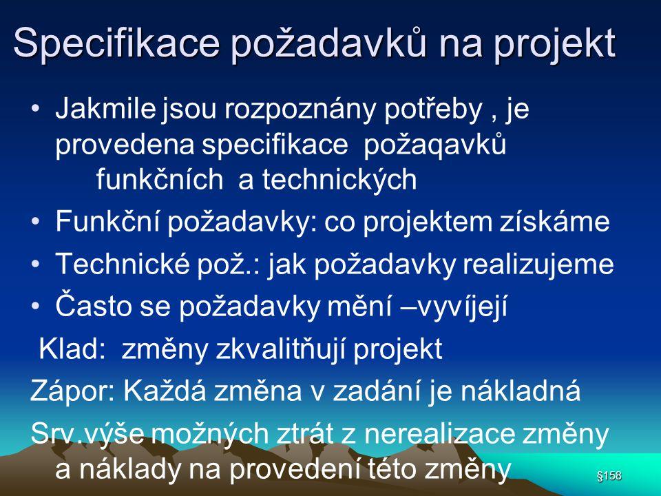 Specifikace požadavků na projekt