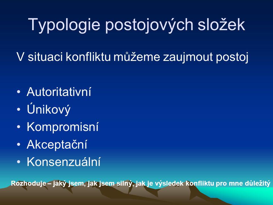 Typologie postojových složek