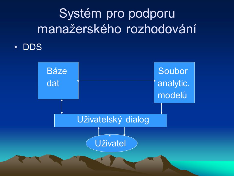 Systém pro podporu manažerského rozhodování