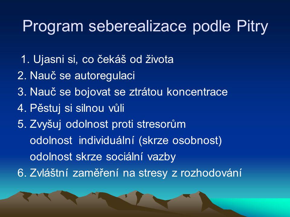 Program seberealizace podle Pitry