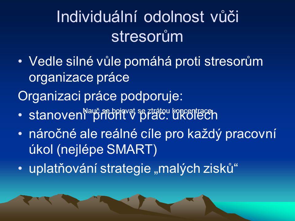 Individuální odolnost vůči stresorům