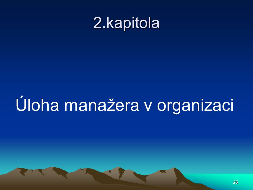 Úloha manažera v organizaci