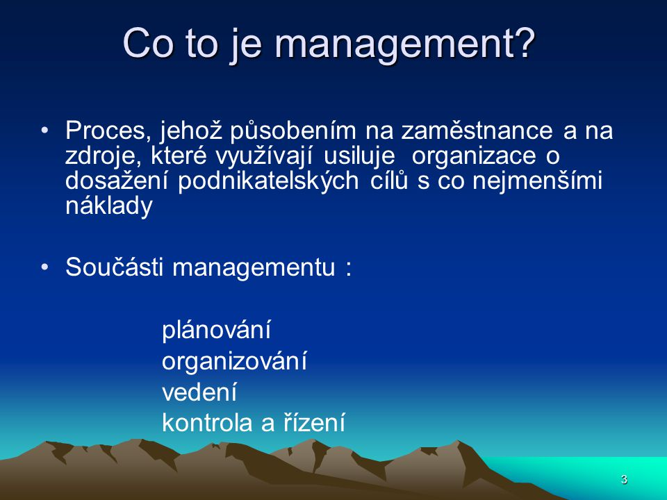 Co to je management