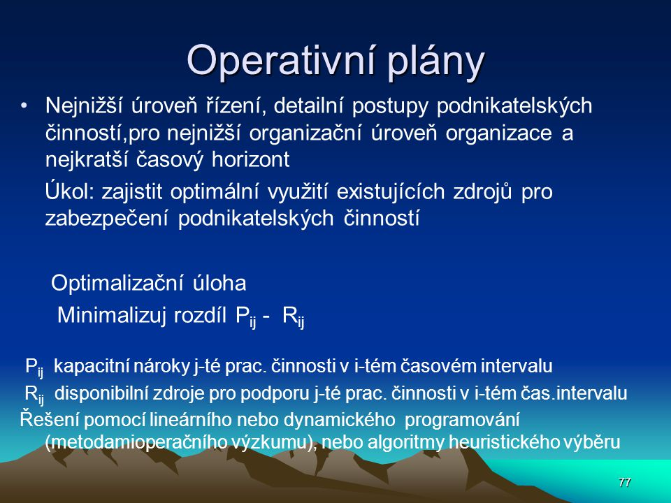 Operativní plány