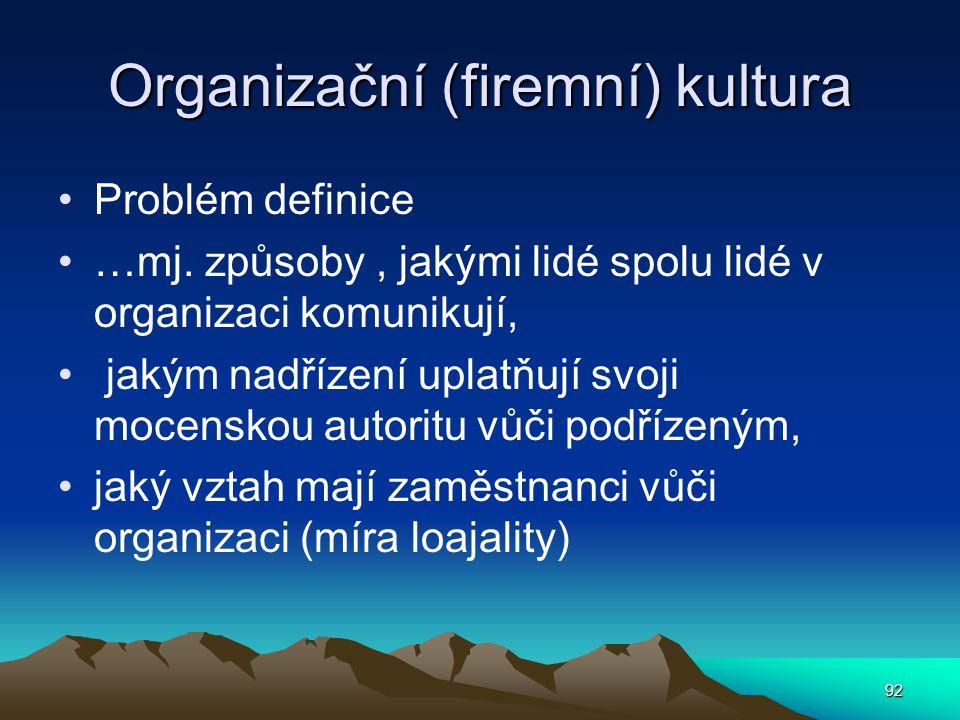 Organizační (firemní) kultura