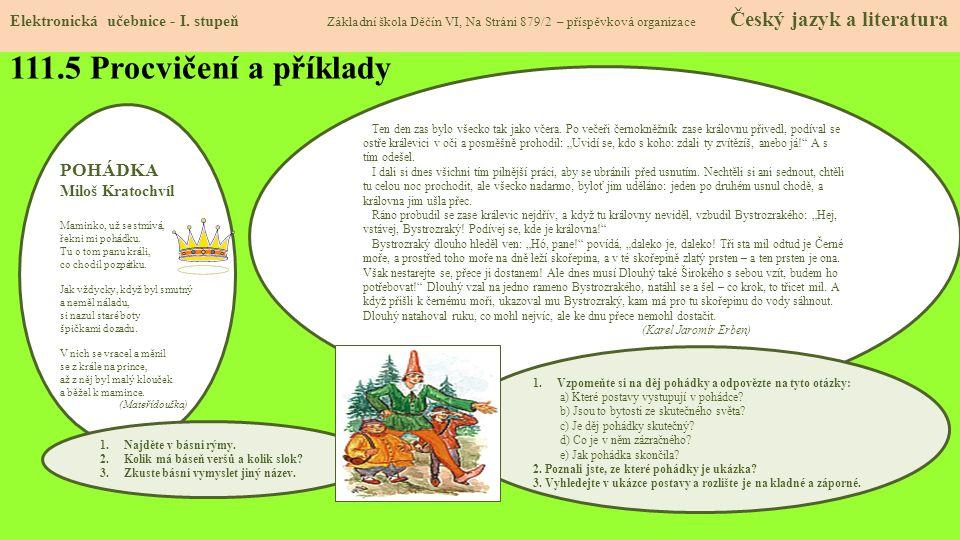 111.5 Procvičení a příklady POHÁDKA