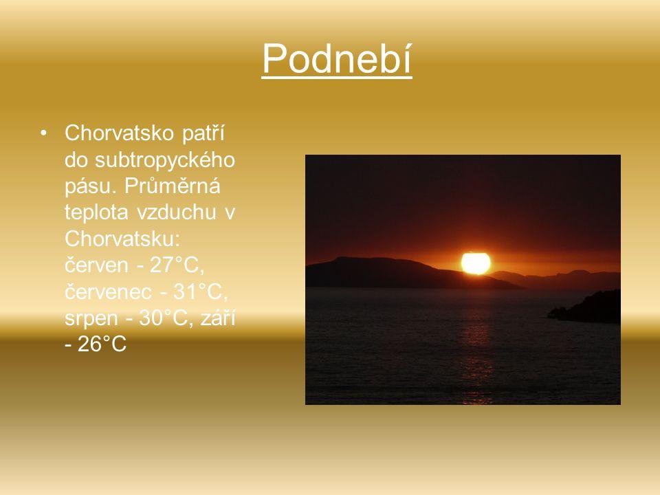 Podnebí Chorvatsko patří do subtropyckého pásu.