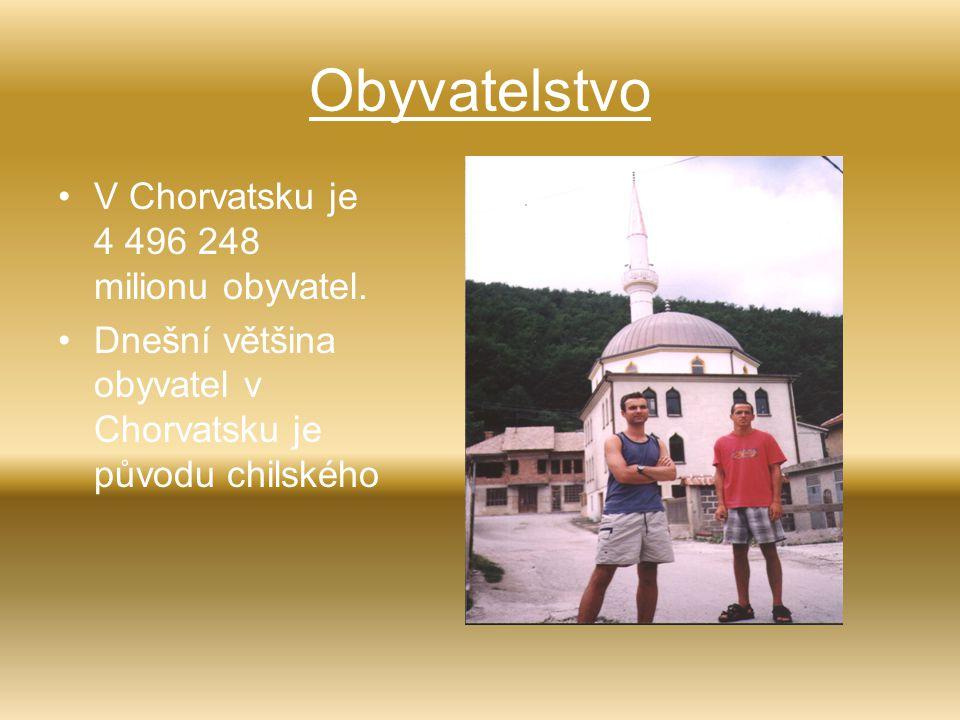Obyvatelstvo V Chorvatsku je 4 496 248 milionu obyvatel.
