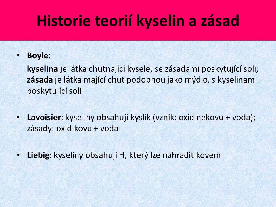 Historie teorií kyselin a zásad