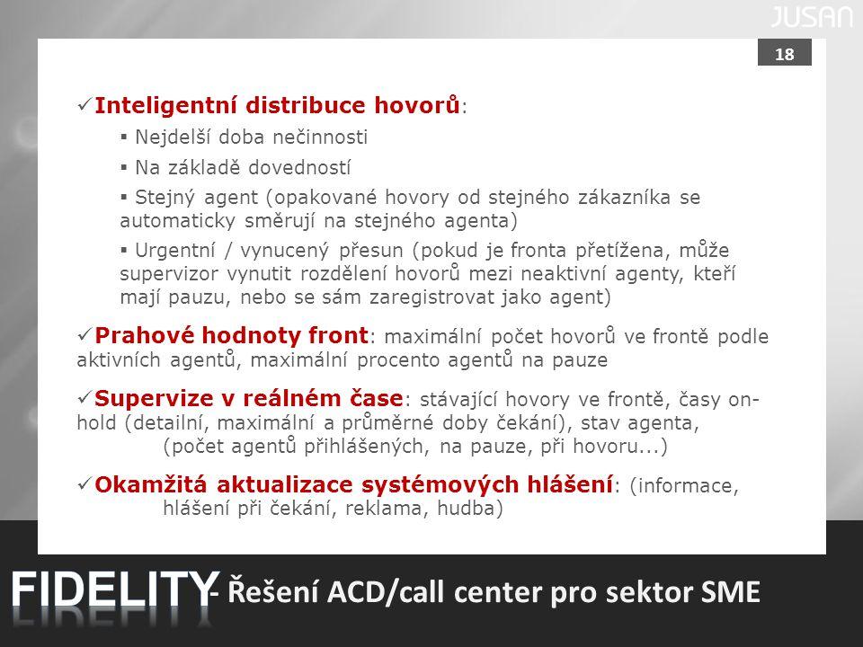 FIDELITY - Řešení ACD/call center pro sektor SME