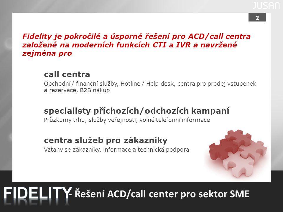 FIDELITY - Řešení ACD/call center pro sektor SME call centra