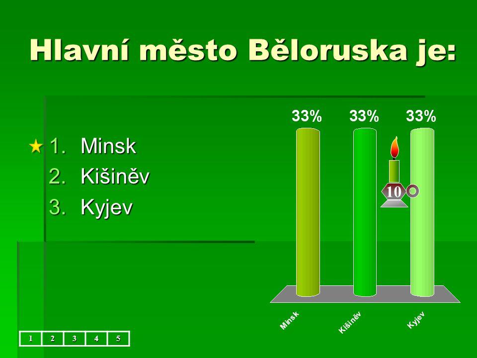 Hlavní město Běloruska je: