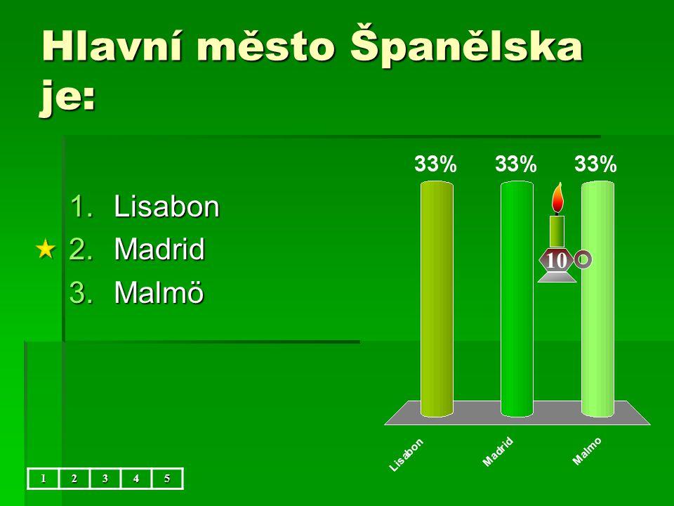 Hlavní město Španělska je: