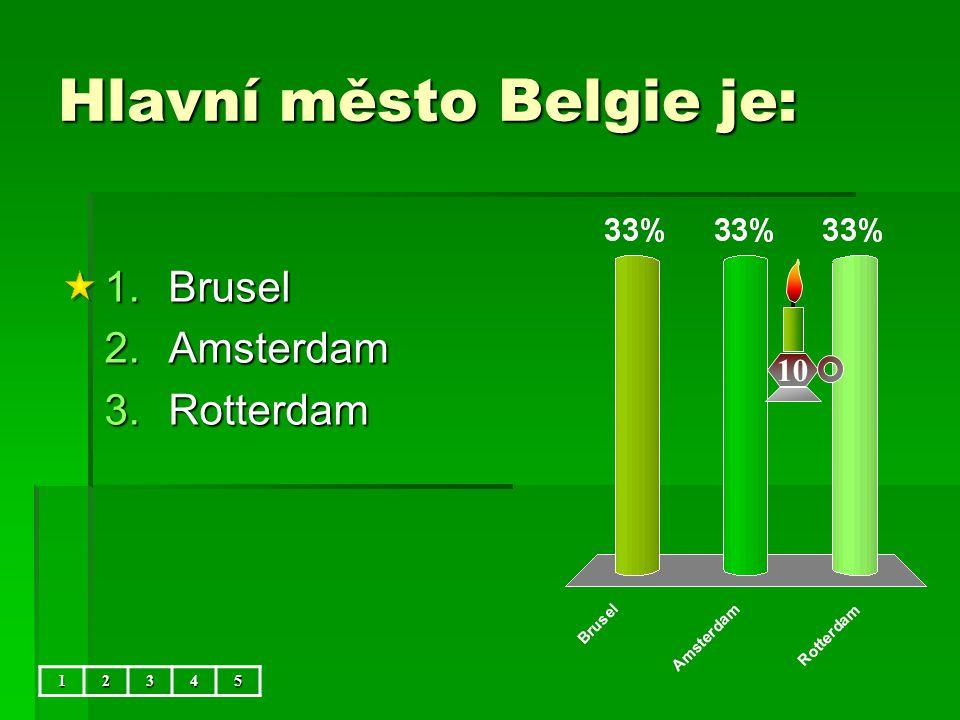 Hlavní město Belgie je: