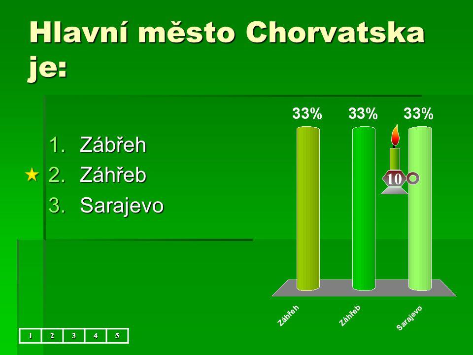 Hlavní město Chorvatska je: