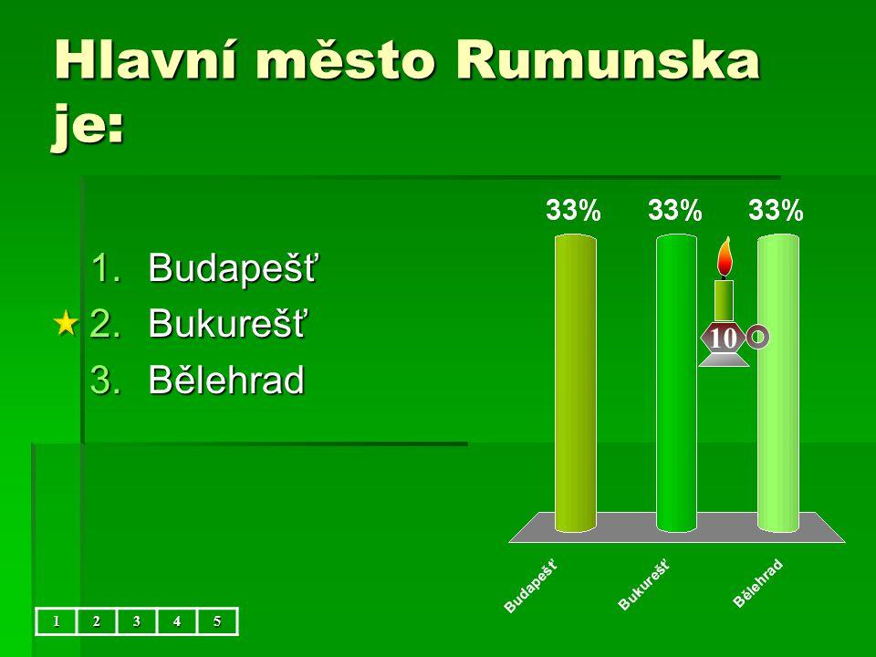 Hlavní město Rumunska je: