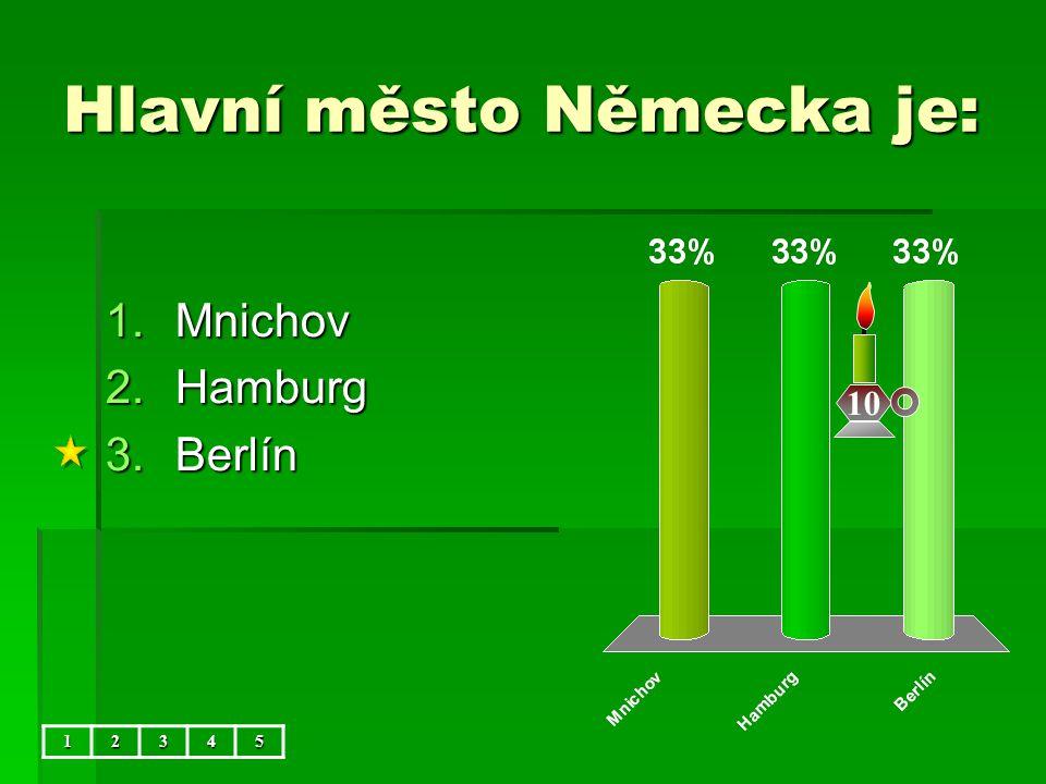 Hlavní město Německa je: