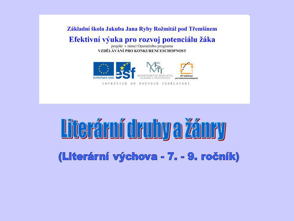 Literární druhy a žánry