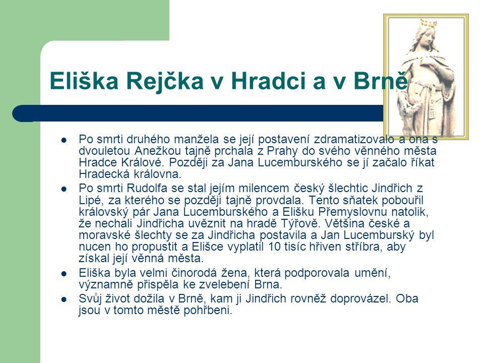 Eliška Rejčka v Hradci a v Brně
