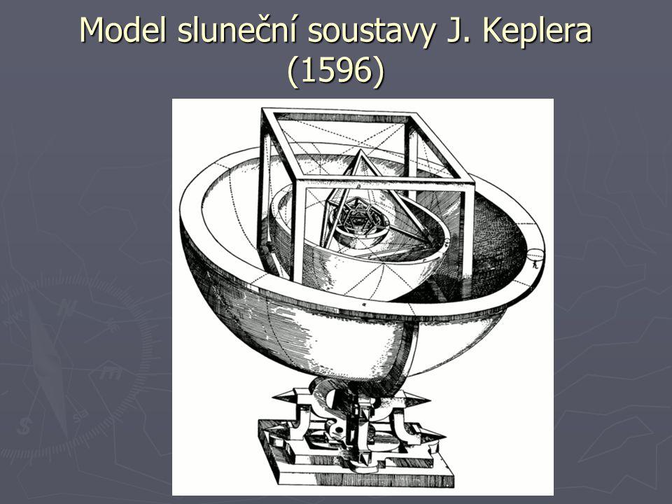 Model sluneční soustavy J. Keplera (1596)