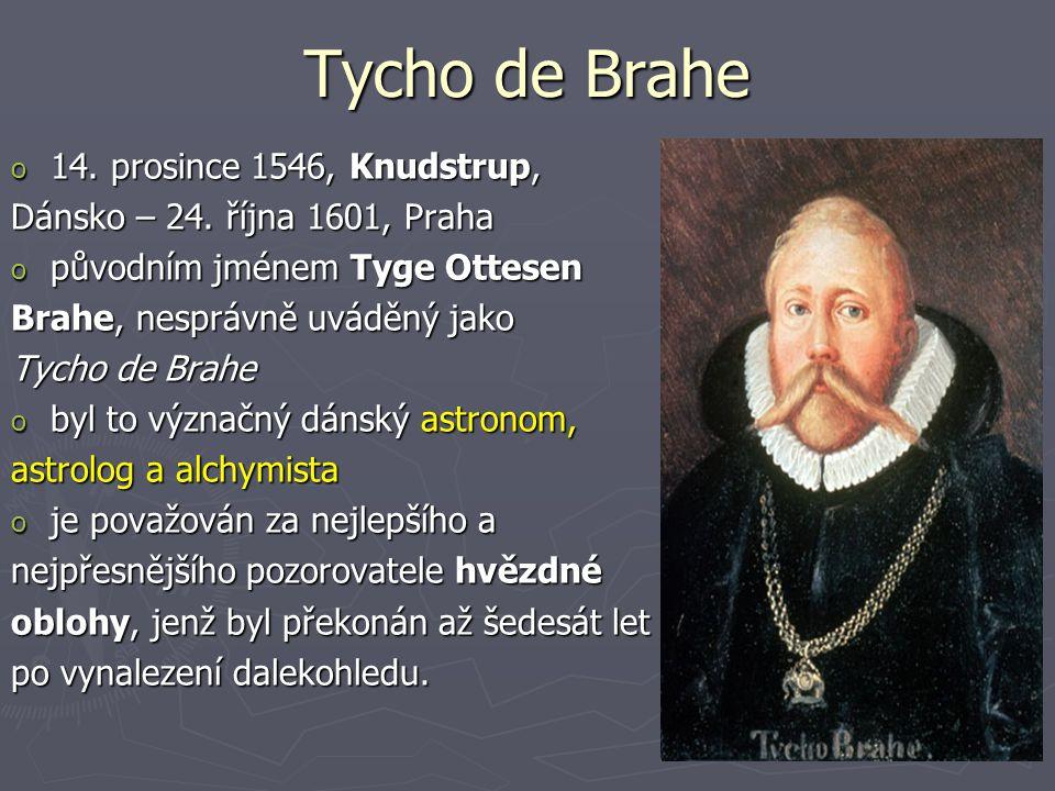 Tycho de Brahe 14. prosince 1546, Knudstrup,