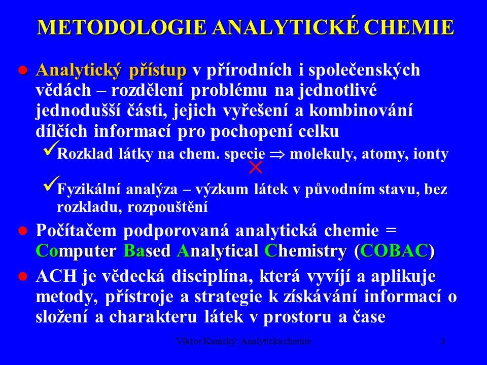 METODOLOGIE ANALYTICKÉ CHEMIE