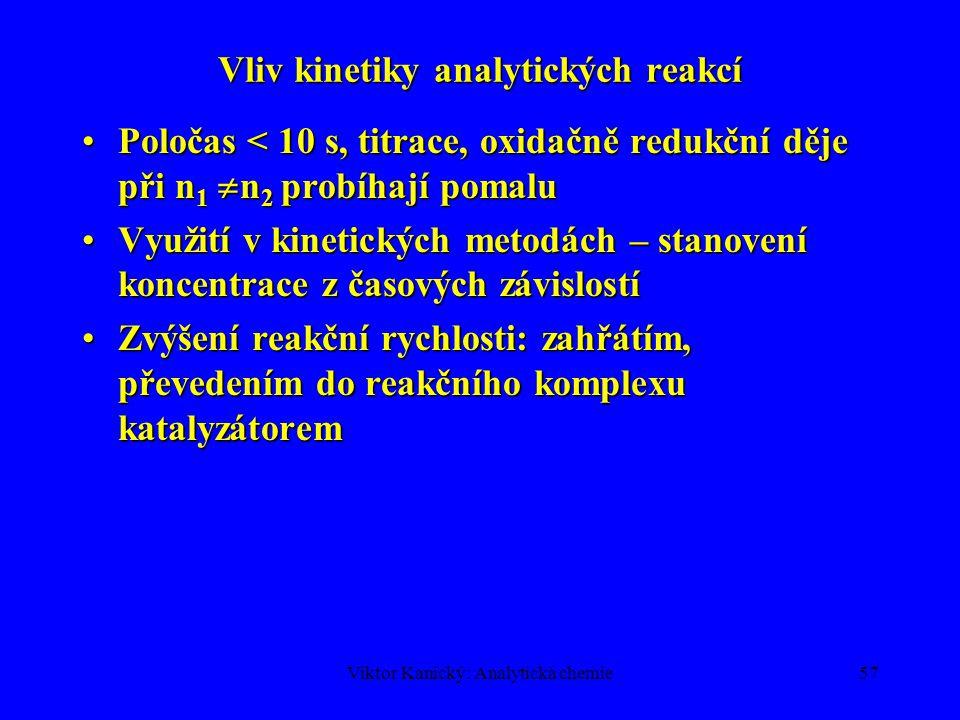 Vliv kinetiky analytických reakcí