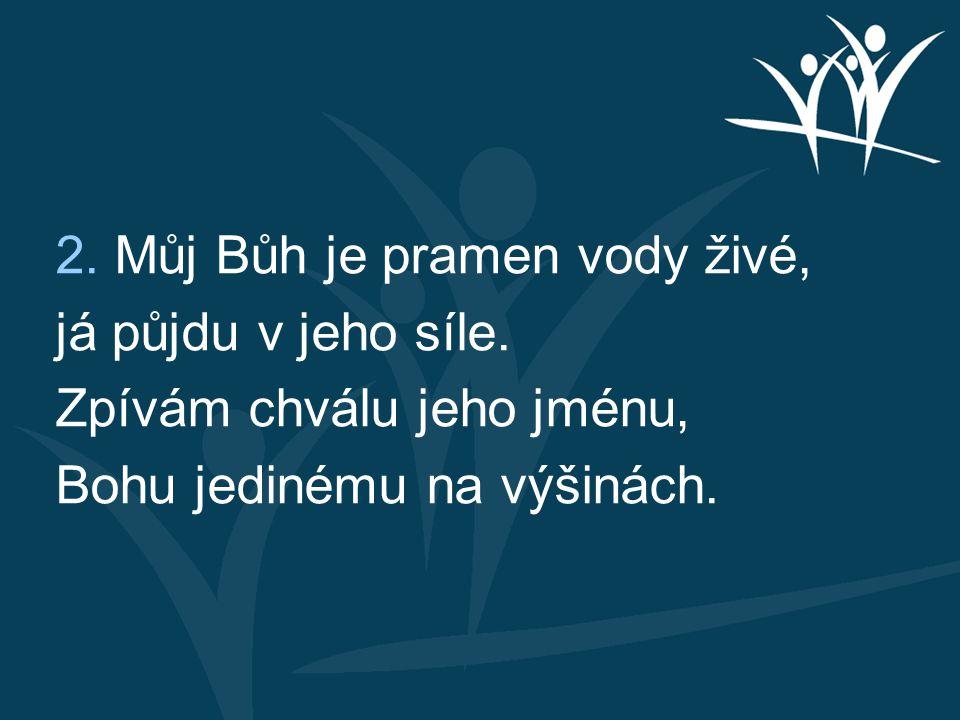 2. Můj Bůh je pramen vody živé,